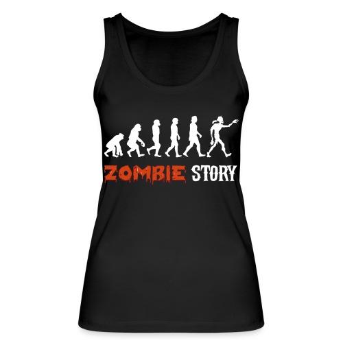 zombie zombies évolution geek préhistoire - Débardeur bio Femme