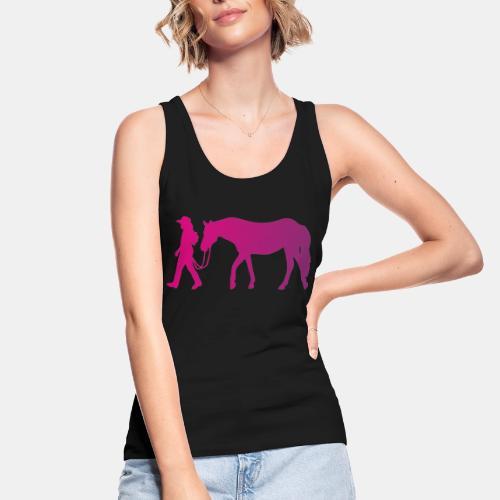 Mädchen führt Pferd, Horsemanship - Frauen Bio Tank Top von Stanley & Stella