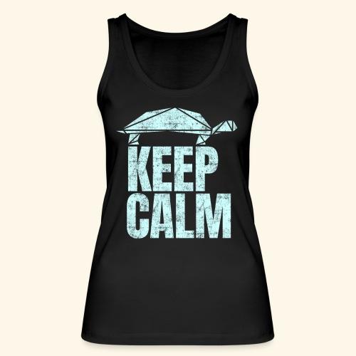 Keep Calm witzige coole Schildkröte kein Stress - Frauen Bio Tank Top von Stanley & Stella
