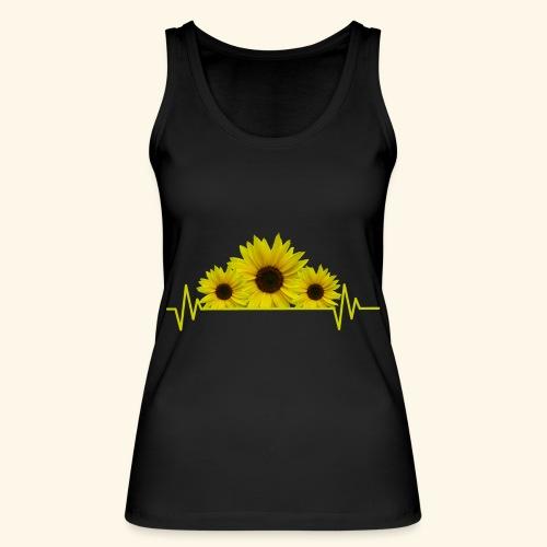 Sonnenblumen Herzschlag Sonnenblume Blumen Blüten - Frauen Bio Tank Top von Stanley & Stella