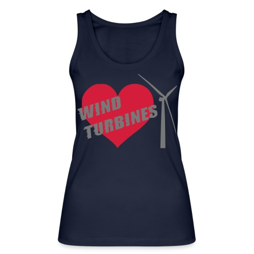 wind turbine grey - Women's Organic Tank Top by Stanley & Stella