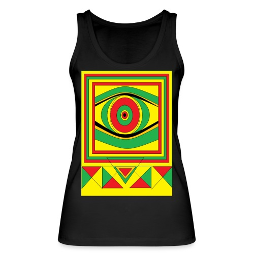 ALL seeing eye RASTA burn down babylon Original - Vrouwen bio tanktop van Stanley & Stella
