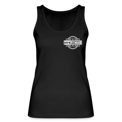 1st4Fitness White Back & Front - Women's Organic Tank Top by Stanley & Stella
