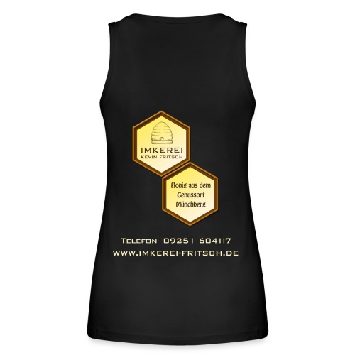 Shirt Imkerei Fritsch, 2 Waben hinten, vorne Logo - Frauen Bio Tank Top von Stanley & Stella