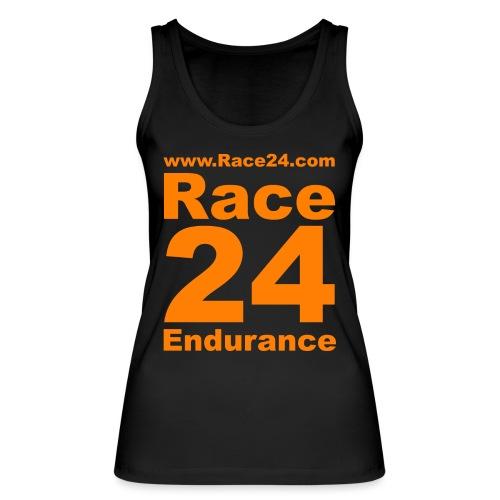 Race24 Logo in Orange - Women's Organic Tank Top by Stanley & Stella