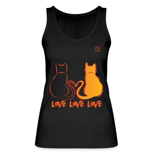 The Red Twins LOVE LOVE LOVE - Top ecologico da donna di Stanley & Stella