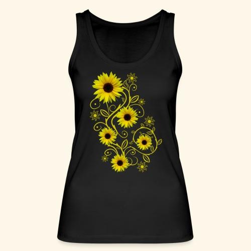 gelbe Sonnenblumen, Ornamente, Sonnenblume, Blumen - Frauen Bio Tank Top von Stanley & Stella