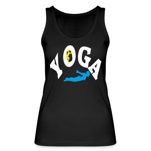 Yoga Schriftzug mit Posen Körperspannung Geschenk - Frauen Bio Tank Top von Stanley & Stella