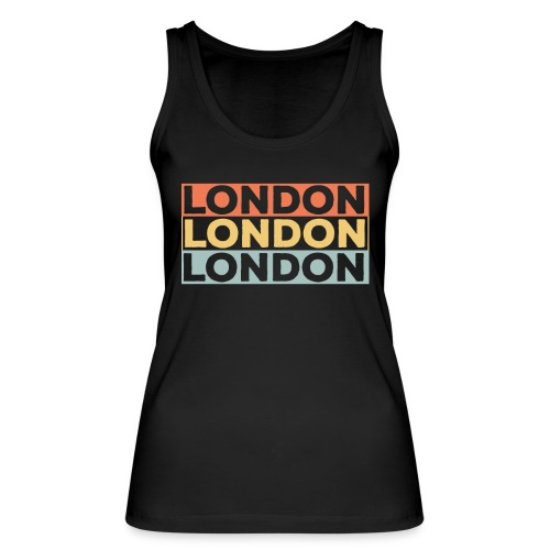 Vintage London Souvenir - Retro Streifen London - Frauen Bio Tank Top von Stanley & Stella