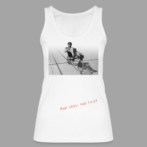 Recumbent Bike Banned since 1934 - Stanley & Stellan naisten luomutanktoppi