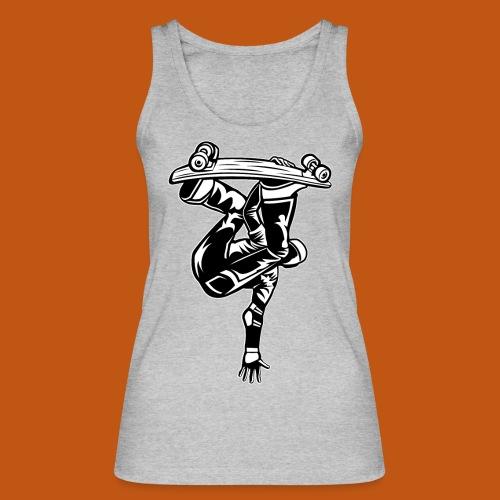 Skater / Skateboarder 03_schwarz weiß - Frauen Bio Tank Top von Stanley & Stella