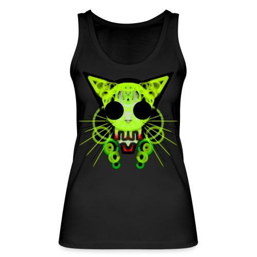 cat skeleton skull light green in deep black - Women's Organic Tank Top by Stanley & Stella