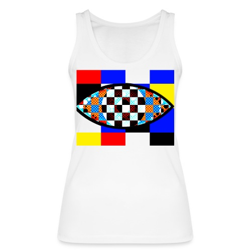 eye with squares in strong colors - Women's Organic Tank Top by Stanley & Stella
