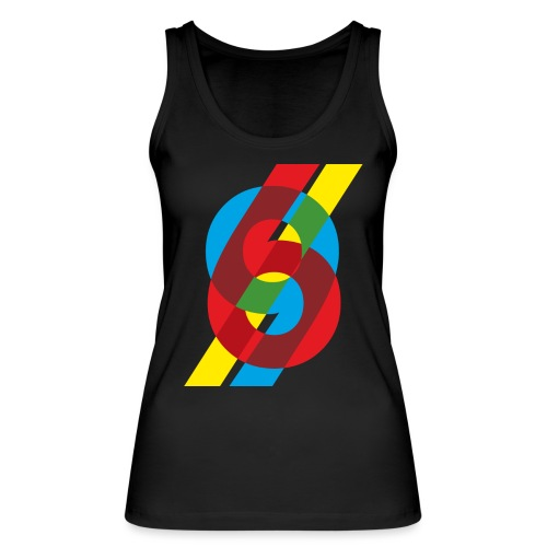 colorful numbers - Women's Organic Tank Top by Stanley & Stella