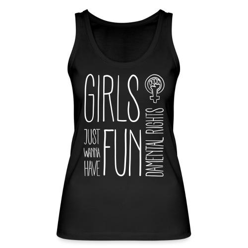 Girls just wanna have fundamental rights - Frauen Bio Tank Top von Stanley & Stella