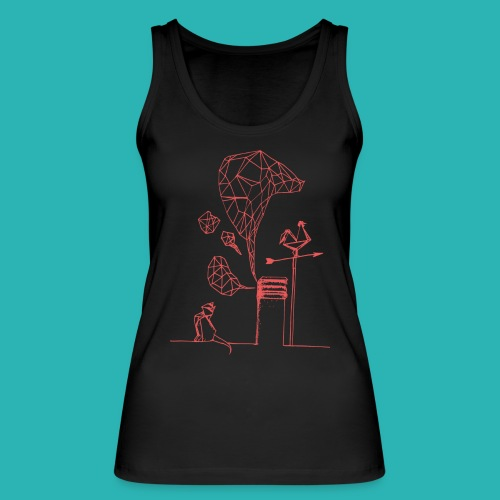 Carta_gatta_pink-png - Top ecologico da donna di Stanley & Stella