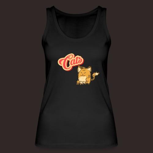 Katze   Katzen süß Schriftzug - Frauen Bio Tank Top von Stanley & Stella
