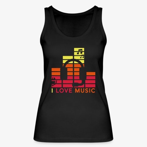 I love music Illustration Gig Band Musik Godigart - Frauen Bio Tank Top von Stanley & Stella