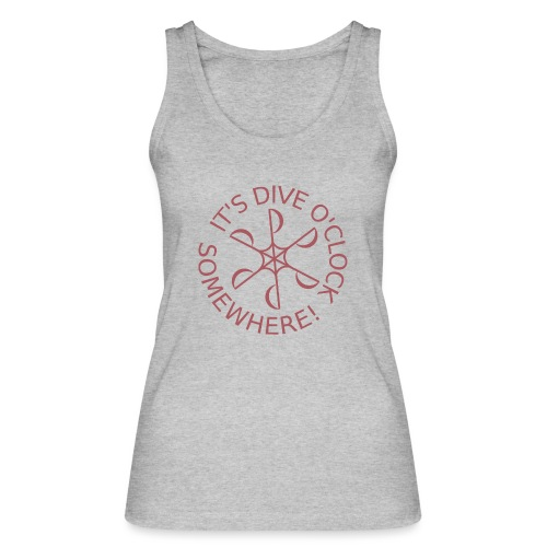 Dive o clock Dark Pink - Women's Organic Tank Top by Stanley & Stella