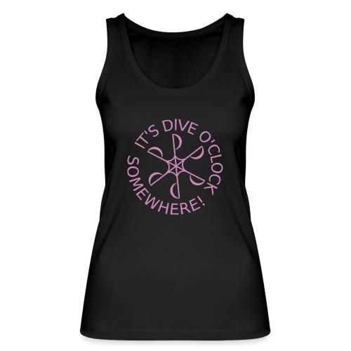 diveoclocklogodlpink png - Women's Organic Tank Top by Stanley & Stella