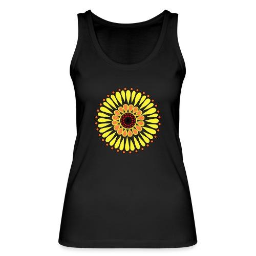 Yellow Sunflower Mandala - Women's Organic Tank Top by Stanley & Stella