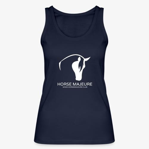Horse Majeure Logo / Valkoinen - Stanley & Stellan naisten luomutanktoppi