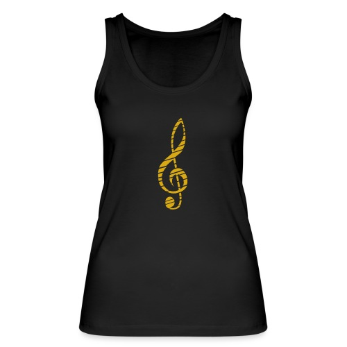 Goldenes Musik Schlüssel Symbol Chopped Up - Women's Organic Tank Top by Stanley & Stella