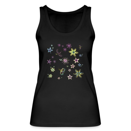 flowers and butterflies - Top ecologico da donna di Stanley & Stella