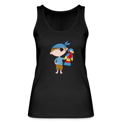 Kleiner Pirat mit Papagei - Frauen Bio Tank Top von Stanley & Stella
