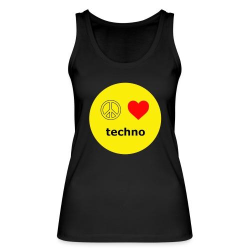paz amor techno - Camiseta de tirantes ecológica mujer de Stanley & Stella