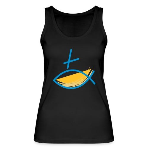 Altkatholischer Logo Fisch Blau/Gelb - Frauen Bio Tank Top von Stanley & Stella