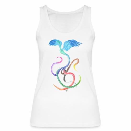 Graceful - Rainbow Bird in Ink - Women's Organic Tank Top by Stanley & Stella