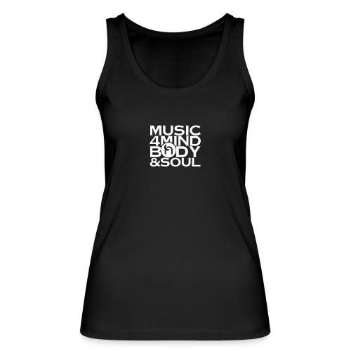 Music 4 Mind, Body & Soul White - Women's Organic Tank Top by Stanley & Stella