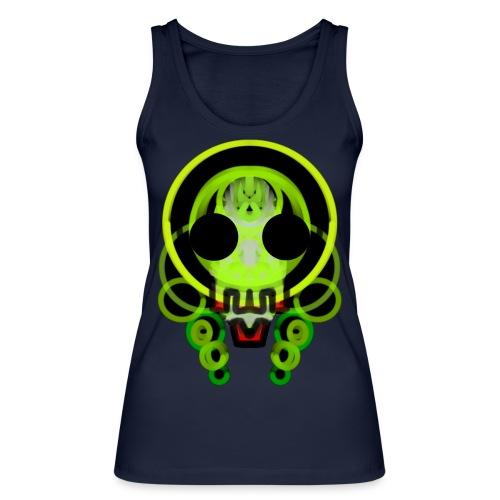 dead skull of loops of green light - Women's Organic Tank Top by Stanley & Stella