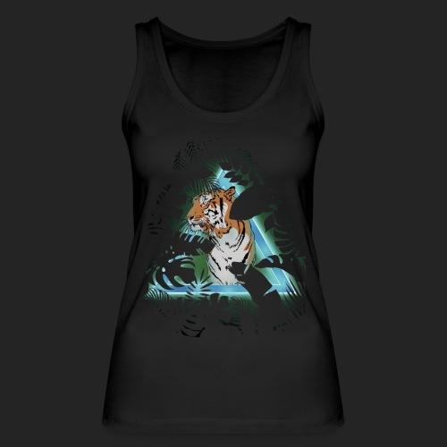 Tigre en soirée - Débardeur bio Femme