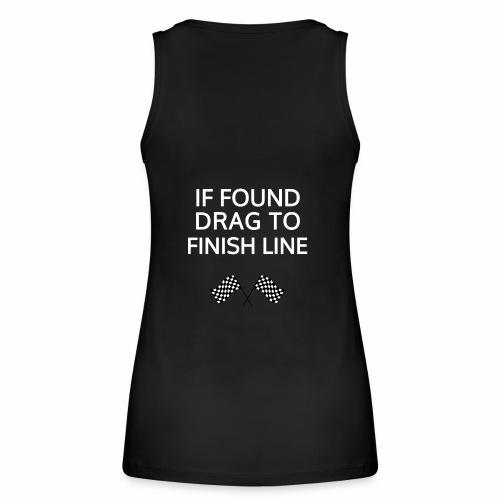 If found, drag to finish line - hardloopshirt - Vrouwen bio tanktop van Stanley & Stella