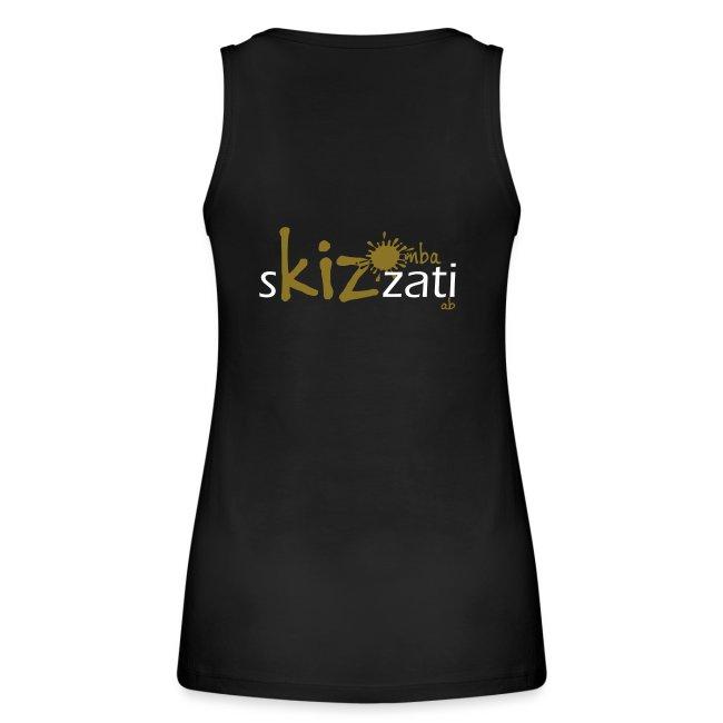T-Shirt attillata sKizzati Kizomba Uomo verde fluo