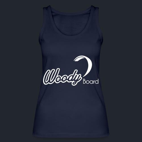Logo Woodyboard Blanc - Débardeur bio Femme