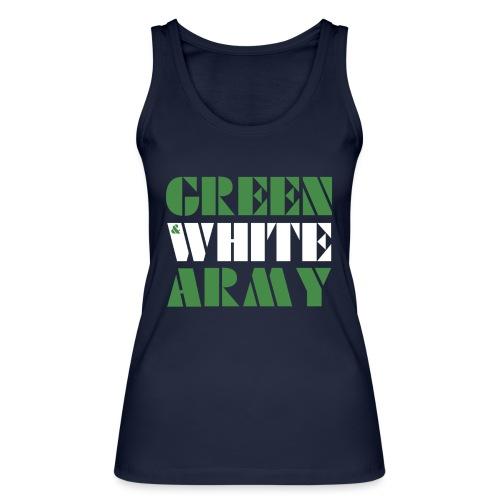 GREEN & WHITE ARMY - Women's Organic Tank Top by Stanley & Stella