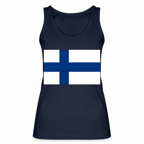 Suomenlippu - tuoteperhe - Stanley & Stellan naisten luomutanktoppi