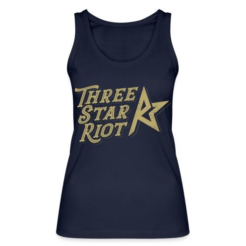 Three Star Riot logo väri - Stanley & Stellan naisten luomutanktoppi