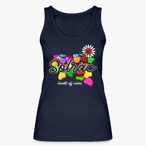 SOLRAC Hearts black - Camiseta de tirantes ecológica mujer de Stanley & Stella