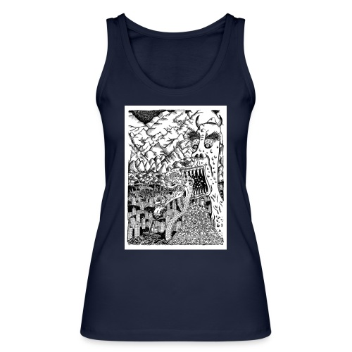 Sea Monsters T-Shirt by Backhouse - Women's Organic Tank Top by Stanley & Stella