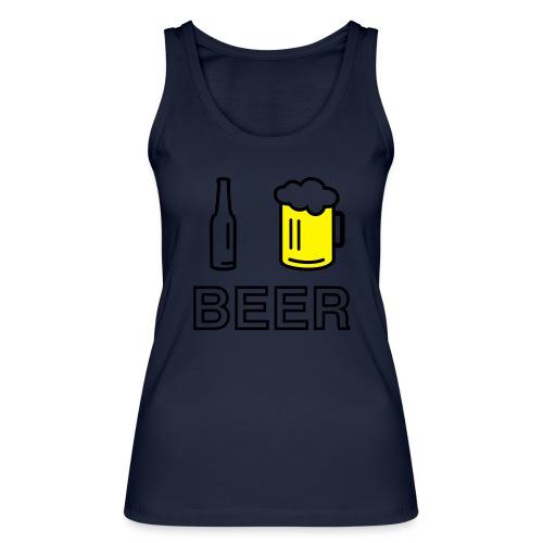 I Love Beer (2-farbig) - Frauen Bio Tank Top von Stanley & Stella