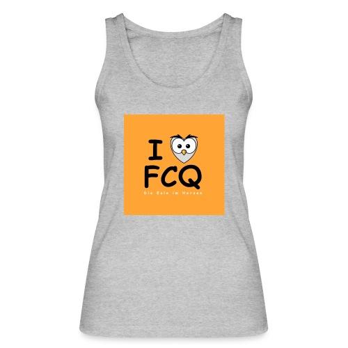 I Love FCQ button orange - Frauen Bio Tank Top von Stanley & Stella