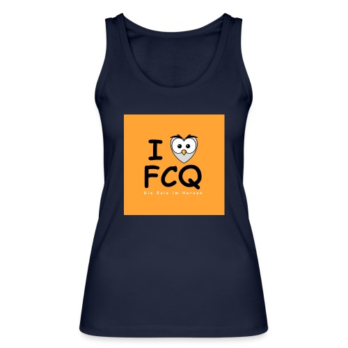 I Love FCQ button orange - Frauen Bio Tank Top von Stanley & Stella