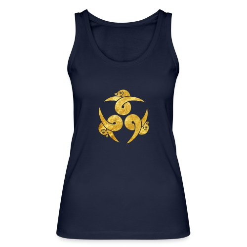 Three Geese Japanese Kamon in gold - Women's Organic Tank Top by Stanley & Stella