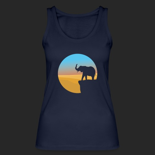 Sunset Elephant - Women's Organic Tank Top by Stanley & Stella