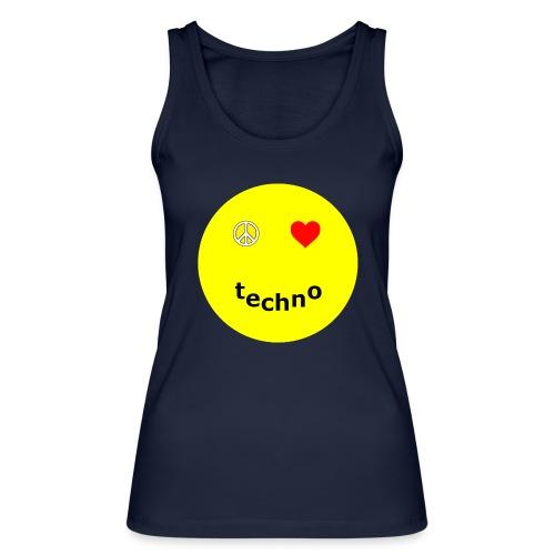 camiseta paz amor techno - Camiseta de tirantes ecológica mujer de Stanley & Stella