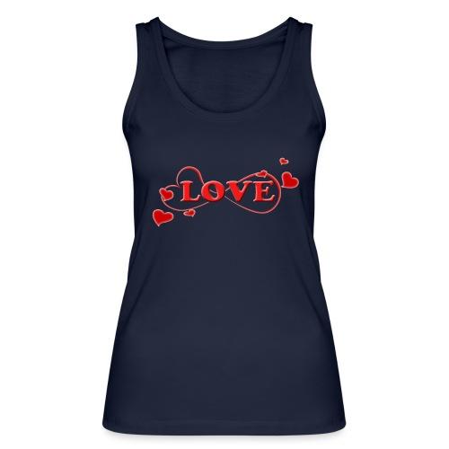 Love forever mit Herzchen, Valentinstag, Liebe - Frauen Bio Tank Top von Stanley & Stella